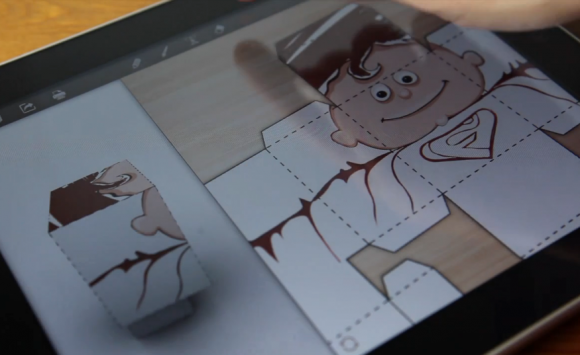 Foldify for iPad released: 3D folding figures made easy