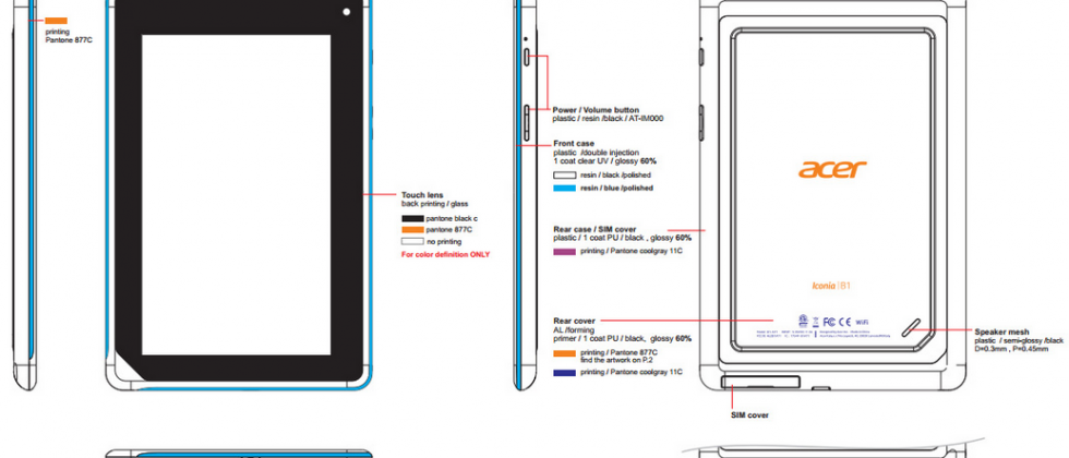 Acer Iconia B1 tablet leaks to under-cut the fabled $99 Nexus