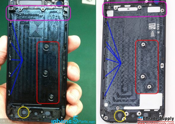 iPhone 5S rear housing leaked, shows minimal differences