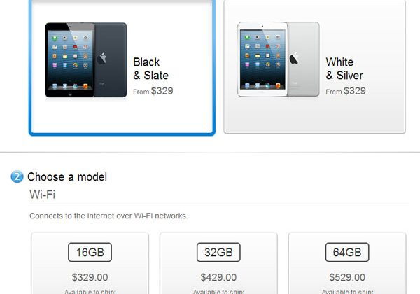 iPad minis now ship in one week