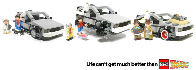 Back to the Future Lego set is now official