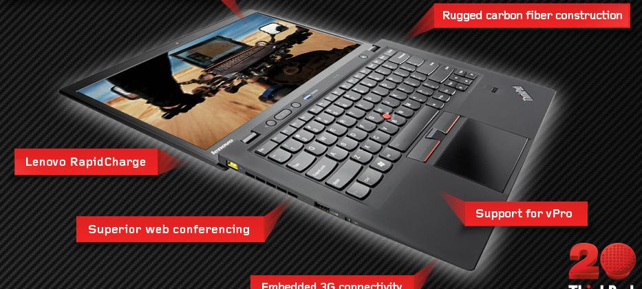 Lenovo announces the Windows 8-optimized ThinkPad X1 Carbon Touch