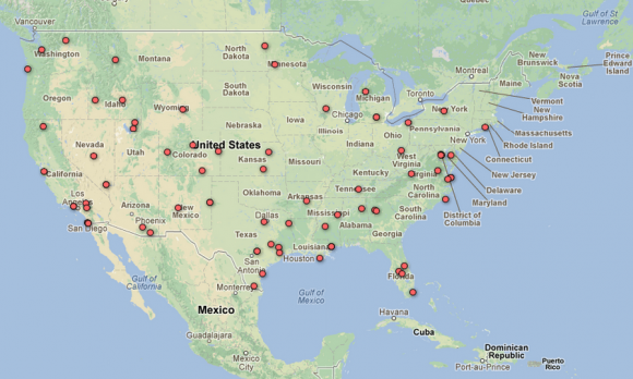 Live USA Map of Unmanned Drones released by EEF - SlashGear