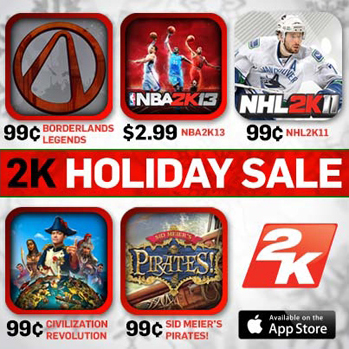 2K Games discounting select iOS games through January 2