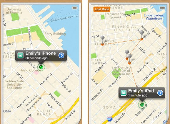 Find my iPhone updates with driving directions to lost devices