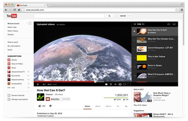 YouTube rolling out new layout starting tonight