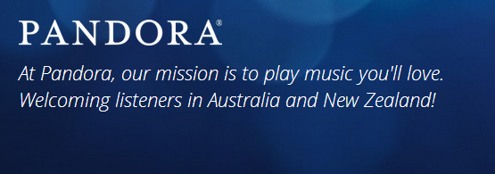Pandora now available in Australia and New Zealand