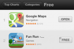 Google Maps for iOS already number 1 in App Store