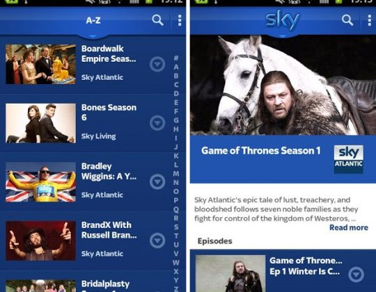 Sky Go adds support for 14 new phones and tablets