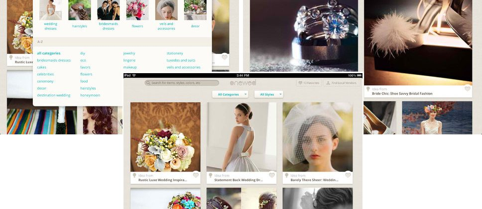 OneWed wedding inspiration photos app heads to iPad