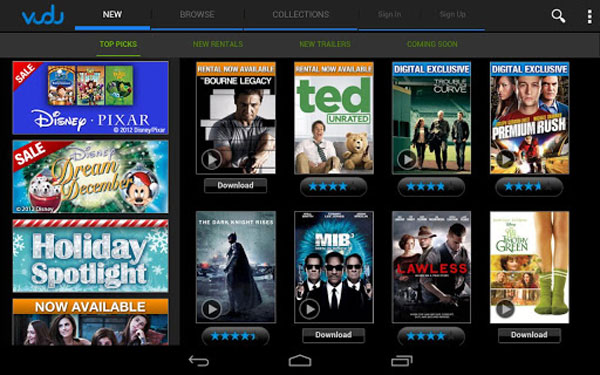 Vudu app for Android tablets hits Google Play
