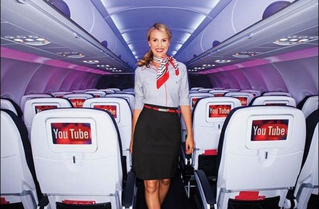 Virgin America and YouTube strike a deal on in-flight content