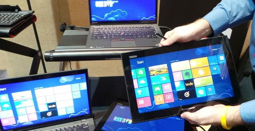 Lenovo ThinkVision mobile monitor hands-on: touching Windows 8 across the room