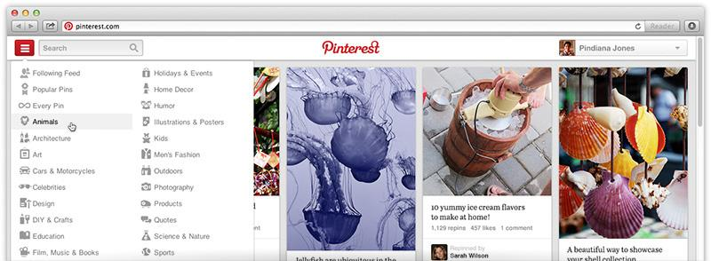 Pinterest shows off new site design, invites users to test it out