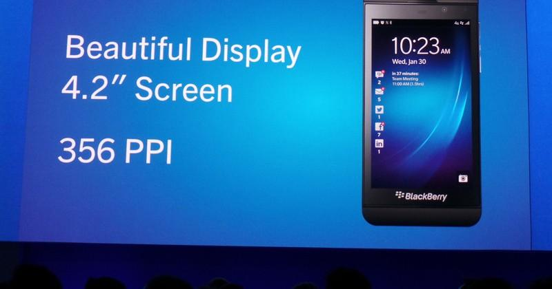 BlackBerry Z10 officially announced