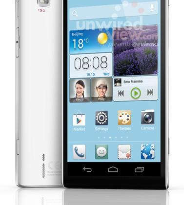 Huawei Ascend P2 strikes a pose in leaked press shot