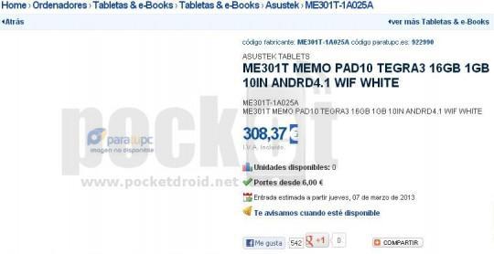 Asus-ME301T-Memo-Pad10-JellyBean-tablet-Spain-retailer-listing-540x278