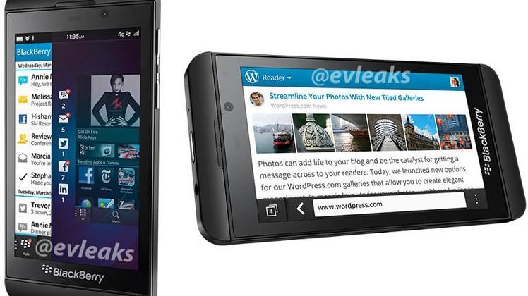BlackBerry Z10 press images leak out