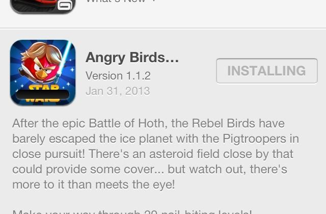 Angry Birds Star Wars adds 20 levels in Escape from Hoth update [hands-on]
