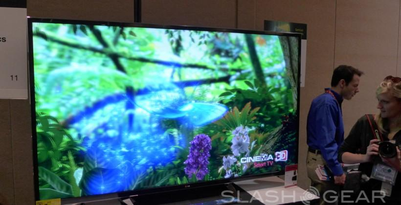LG 84-inch Ultra HD 4k 3D TV Eyes-on
