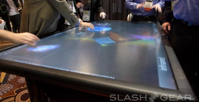 3M 84-inch multi-touch table eyes-on