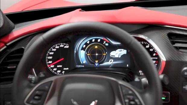 Chevrolet shows off 2014 Corvette all-digital instrument panel