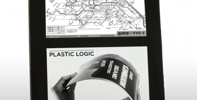 Plastic Logic titillates travellers with always-accurate digital timetable