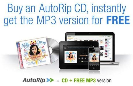 Amazon AutoRip: Free MP3 of your CD purchases since 1998