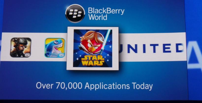 BlackBerry 10 launches with 70,000 apps: Angry Birds, Skype, more
