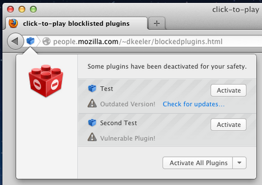 Mozilla to implement Click-to-Play for all Firefox plugins except Flash