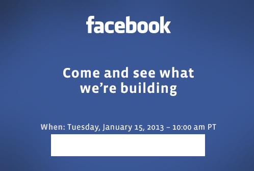 """Facebook says """"Come and see what we're building"""" on January 15 event"""