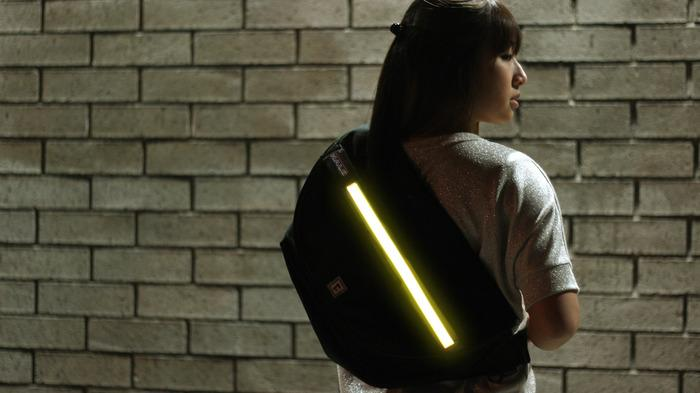 Halo Zero LED messenger bag lights up Kickstarter
