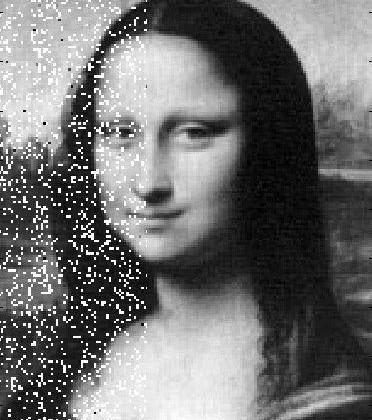 Mona Lisa goes to the moon using a laser