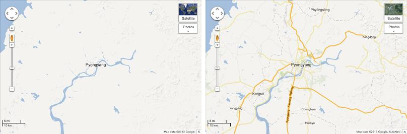 Google Maps opens North Korea