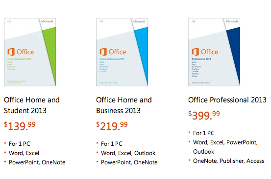 Office 2013 on sale now