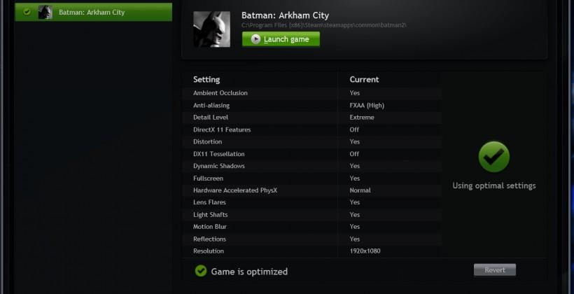 GeForce Experience Open Beta hands-on: optimization for all