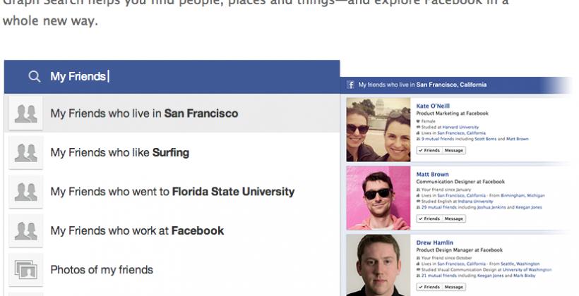 Graph Search gets pre-emptive Facebook Privacy Guarantee