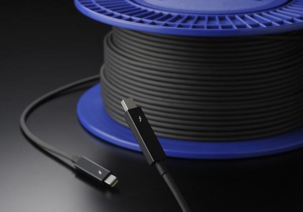 Thunderbolt cables go fiber optic (up to 100 feet long!)