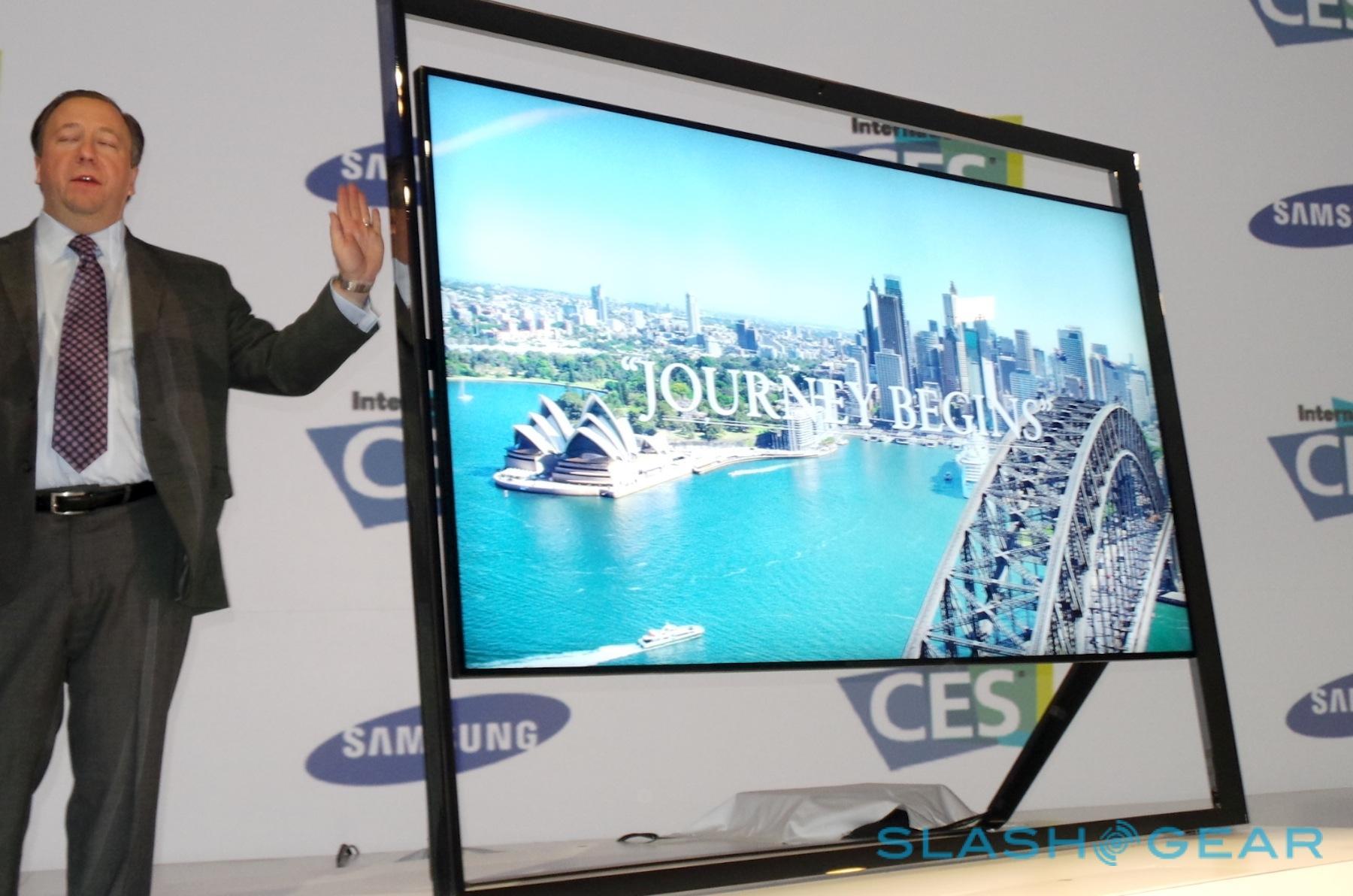 samsung 85 inch ultra hd un85s9000 tv eyes on slashgear. Black Bedroom Furniture Sets. Home Design Ideas