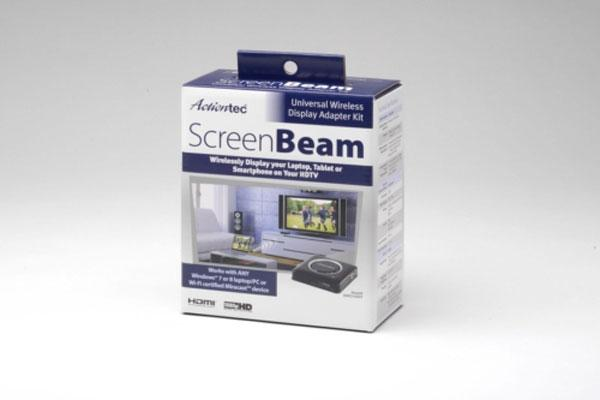 Actiontec ScreenBeam Wi-Fi certified Miracast HD kit debuts