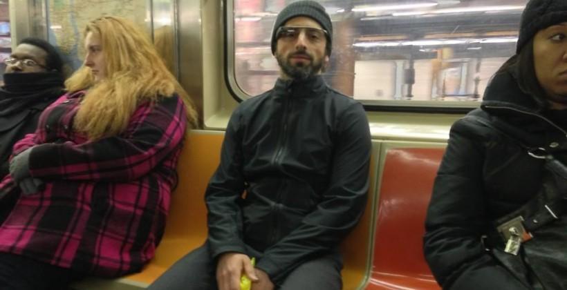 Sergey Brin spotted on NYC subway rocking Google Glass