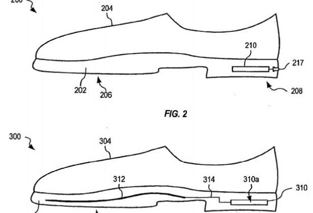 Apple patent shows shoe sensor for information on sole death