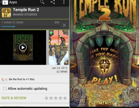 Temple Run 2 Android edition hits Google Play with a bang!