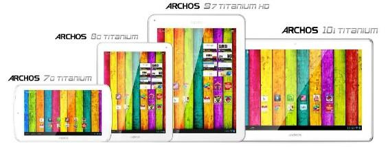 Archos announces Titanium tablet lineup with Jelly Bean starting at $119