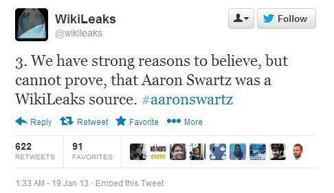 Aaron Swartz named as possible WikiLeaks source