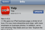 Yelp for iOS updates with improved iPad business page, social features