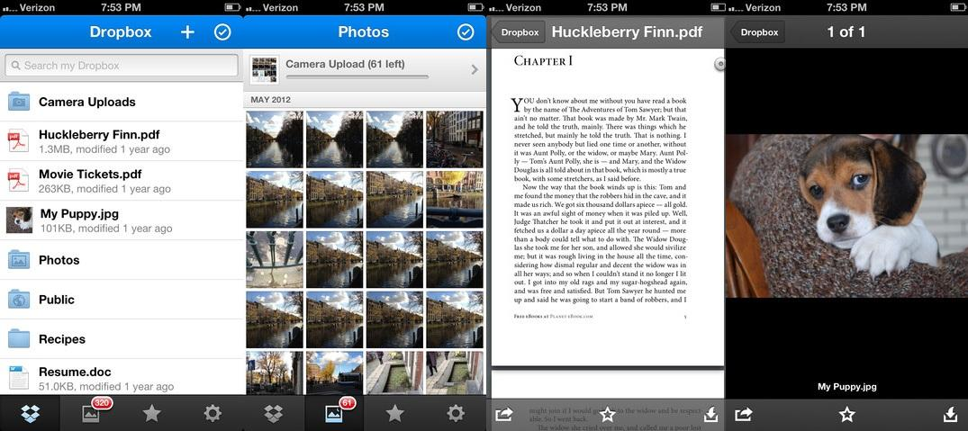 Dropbox for iOS offers new notifications and a pdf reader