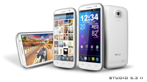 BLU Products is now shipping Studio 5.3 II and Tank 4.5 Android handsets