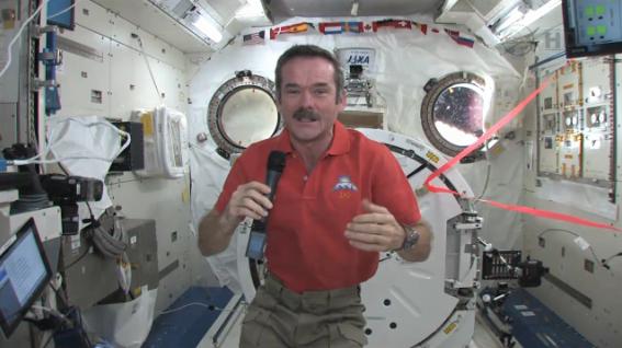 Star Trek actor William Shatner calls ISS Cdr. Chris Hadfield