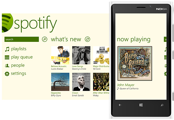 Spotify launches on Windows Phone 8